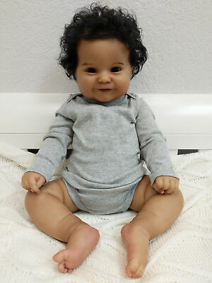 $ CDN104.04 • Buy 20  Soft Reborn Baby Dolls Boy Black Real Size Silicone Newborn Dolls Realistic