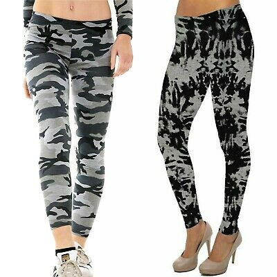 £5.99 • Buy Womens Ladies Casual Stretch Camouflage Print Girls Leggings Plus Size 8-22