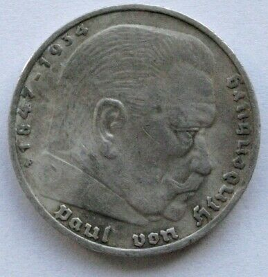 AU11.44 • Buy Coins 1933 Germany 5 Reichsmark, Silver Coin #1200