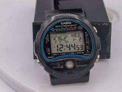 £43.79 • Buy Casio TS-100 Men's Digital Thermometer World Time Wrist Watch - Made In Japan
