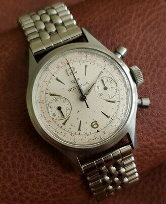 $ CDN906.90 • Buy Vintage Wittnauer REF 3256 Chronograph Watch, Venus 188