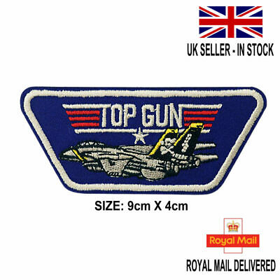 £1.99 • Buy TOP GUN MOVIE Embroidered US Navy Air Force Badge Iron / Sew On Clothing Patch