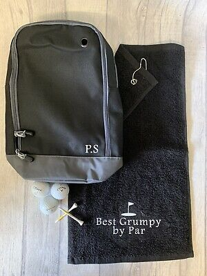 £19.99 • Buy Personalised Golf Towel & Shoe Bag Gift Set Fathers Day
