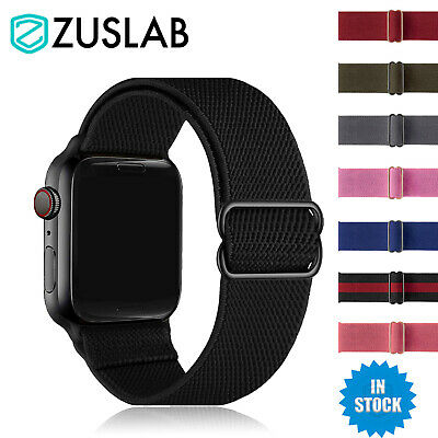 AU8.95 • Buy For Apple Watch IWatch Band SE 6 5 4 3 2 1 Nylon Elastic Strap 44 42 40 38 Mm
