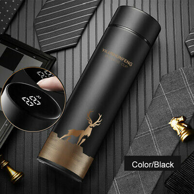 AU21.57 • Buy Insulated Travel Coffee Mug Cup Thermal Flask Vacuum Thermos Stainless Steel LED