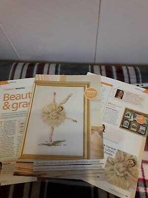 Cross Stitch Chart Only - Ballerina In Sepia Tones • 1.20£
