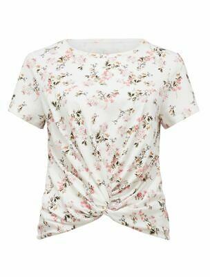 AU15 • Buy FOREVER NEW Womens Floral Whitney Twist Front Crop Tee Top SIZE SMALL 6 8