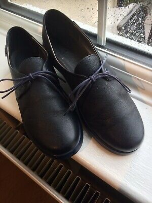 £12 • Buy Camper Ladies Size 5 1/2, Navy Blue Real Leather Flat Casual Lace Up Shoes.