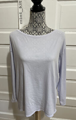 $ CDN70.36 • Buy Lululemon Back In Action Long Sleeve Size 12 Iced Iris Purple Prima Cotton