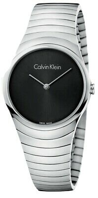 £26 • Buy CALVIN KLEIN K8A23141 Whirl Black Dial Stainless Steel Ladies Watch