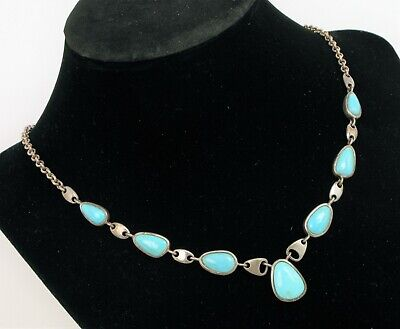 $ CDN157.90 • Buy Vintage Designer Signed Whitney Kelly Wk 925 Sterling Silver Turquoise Necklace