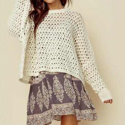 AU230 • Buy Spell And Gypsy Design Eaglehawk Slouch Knit Jumper Cream M/L