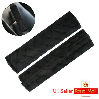 Pair Car Seat Belt Cover Pads Car Safety Cushion Covers Strap Pad For Adults Kid • 3.61£