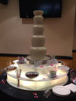 £2000 • Buy Sephra CF44 Commercial Chocolate Fountain With LED Surround & Carry Cases