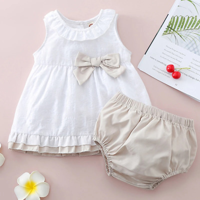 £14.95 • Buy Baby Girl Toddler Spanish Style Top/Dress And Jam Pants/ Knickers Set #45b