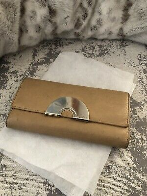 AU29 • Buy Oroton Wallet Lambskin LeatherLight Tan Colour Trifold 19x10cm Good Condition