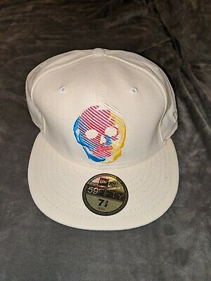 $ CDN30.32 • Buy NEW ERA Skull Hat Cap 7 3/8 Fitted Blue Red Yellow White Bape Alife Supreme NWT