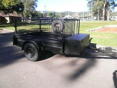 AU750 • Buy  Trailer 7x5 With Cage And Camper Cover. Good Cond. NSW Rego Till Sept 2021