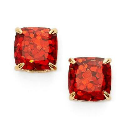 $ CDN25.39 • Buy NWT Kate Spade Glitter Mini Square Stud Earrings Garnet Red