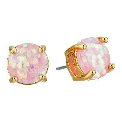 $ CDN24.25 • Buy NWT Kate Spade Glitter Small Round Stud Earrings Pale Pink