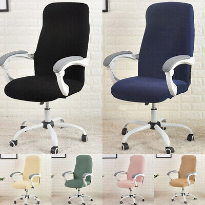 AU16.99 • Buy 1x Solid Office Chair Cover Computer Chair Thickened Slipcover Stretch
