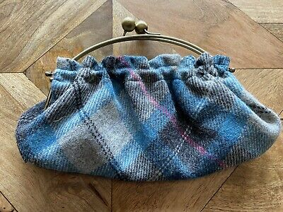 £10 • Buy Ness Cluch Bag Tweed Blue