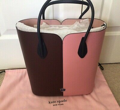 $ CDN25.56 • Buy Kate Spade Large Tote, Pink/Burgundy Smooth Leather, BRAND NEW