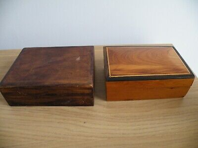 £4.95 • Buy Two Small Vintage Wooden Jewellery /Trinket Boxes