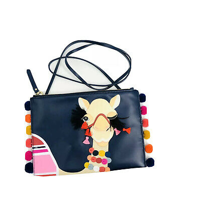 $ CDN181.96 • Buy ✨Kate Spade Winking Camel Pouch Bag Spice Things Up Blue Multicolor Crossbody