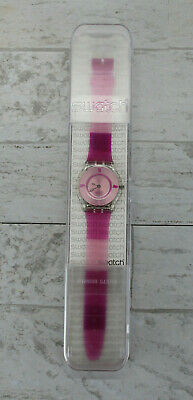 $ CDN103.12 • Buy Swatch 2003 Women's Watch, Hombre Pink Band New In Case - NEEDS BATTERY