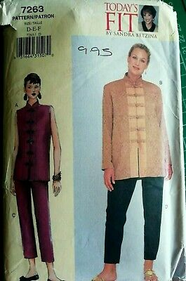 £2.20 • Buy VOGUE 7263 - Ladies Top And Trousers Sewing Pattern (Bust 38-43 ) UNCUT