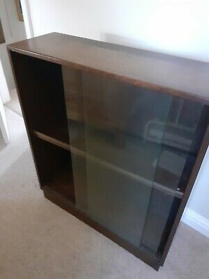 £5 • Buy Glass Fronted Bookcase, Dark Wood.