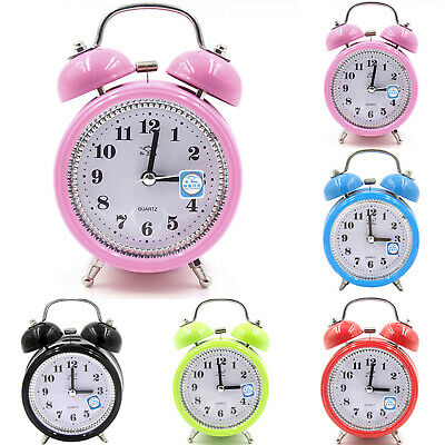 AU16.89 • Buy Silent Analog Alarm Clock Vintage Retro Classic Extra Loud Twin Bell Keywound .