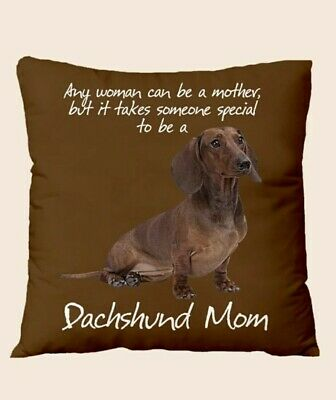 £3 • Buy Dachshund Mom Cushion Cover NO FILLER Brown Sausage Dog Home Decor New