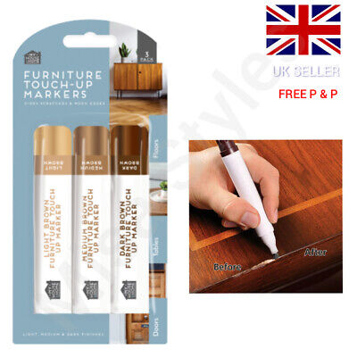 £2.59 • Buy 3 X Furniture Touch Up Pen Marker Repair Kit Scratch Remover Laminate Wood Floor