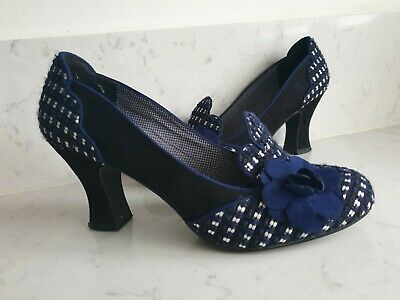 AU45.34 • Buy **STUNNING** VINTAGE Ruby Shoo 40s 50s Style Blue Rockabilly Shoes UK 9