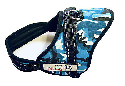 £9.75 • Buy Senior Pet Dog -puppy-Harness Size M -Black With Blue Camouflage