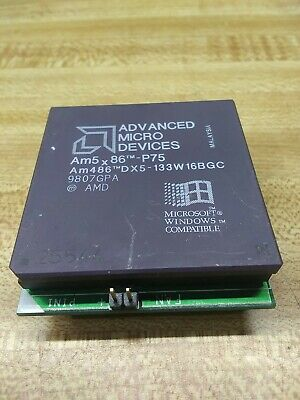 AU64.35 • Buy VERY Rare Collectible Am5x86-P75 AMD AM486DX5-133W16BGC  Chip On Board UNTESTED