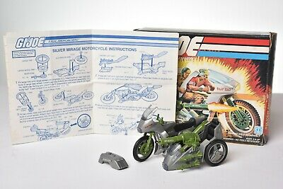 $ CDN12.70 • Buy Vintage GI JOE - VEHICLE 1985 SILVER MIRAGE MOTORCYLE 100% COMPLETE - HASBRO