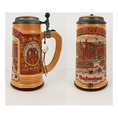 $ CDN54.45 • Buy Gerz Anheuser Busch Budweiser Lidded Beer Stein 1988 Edition W. Germany 94% Zinn