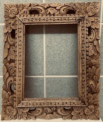 £19.99 • Buy Vintage - Hand Carved - Wooden Frame - Rustic / Rococo Style - 1940's /50's