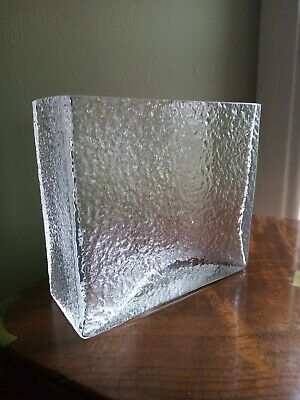 £15 • Buy Dartington Glass ClearTextured Flower Box FT191 Rectangle Vintage Thrower.70s