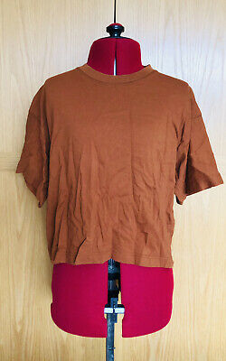 £3.99 • Buy Topshop Rust Cropped Baggy Baby Tee T-Shirt Top Size XS-S 4-6 UK 100% Cotton