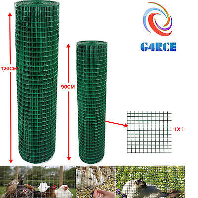 £39.99 • Buy PVC Coated Green Chicken Rabbit Wire 30m 45m 2 Widths Mesh Aviary Fencing Garden