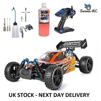 £203.99 • Buy Petrol RC Car With *Two Gears* Remote Control Car With STARTER KIT & NITRO FUEL