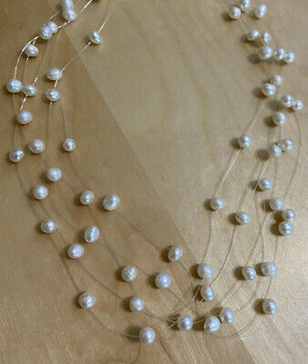 $ CDN12.09 • Buy Lia Sophia PEARLETTE Necklace, Genuine White FreshWater Pearls, 15-18  NEW