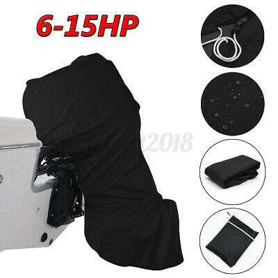AU24.89 • Buy 6-15hp Full Outboard Boat Motor Engine Cover Dust Rain Protection Black 600D