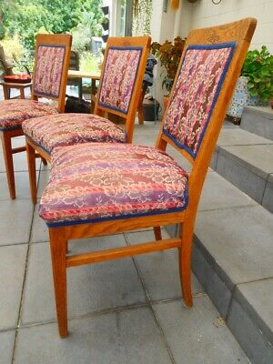 AU66 • Buy Antique Dining Chairs Solid English Oak