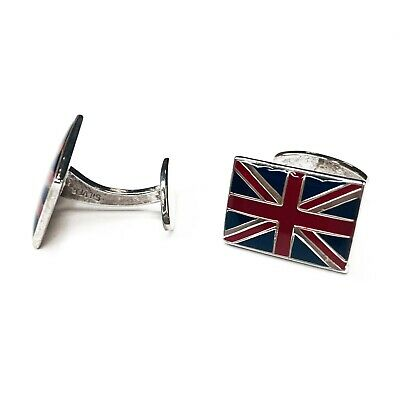 £44.99 • Buy Sterling Silver 925 Union Jack Flag Cufflinks Boxed Gift Fathers Day Birthday