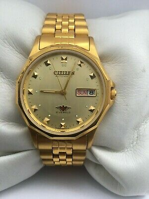 £79 • Buy Citizen Men's Automatic Day/Date Automatic Gold Plated Gold Dial Bracelet Watch